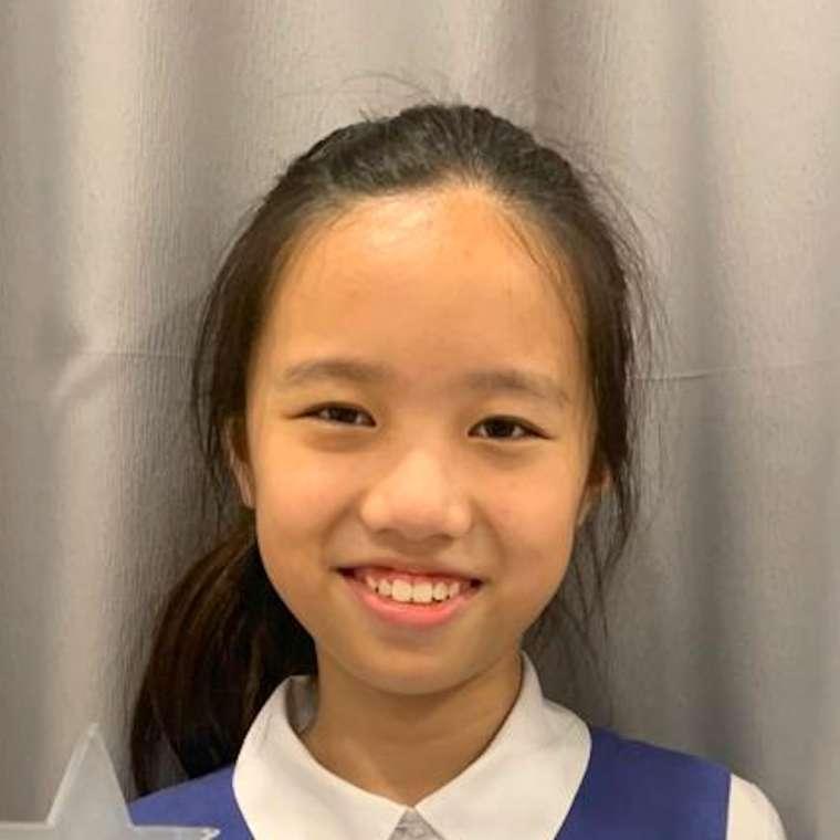 portrait photo of girl for testimonial